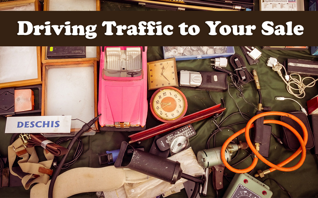 Driving traffic to your sale through online promotion