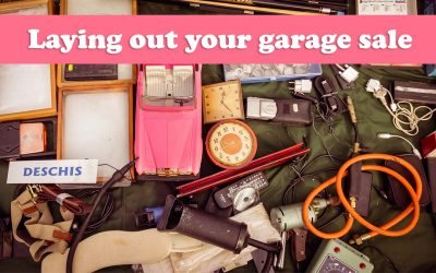 Laying out your garage sale