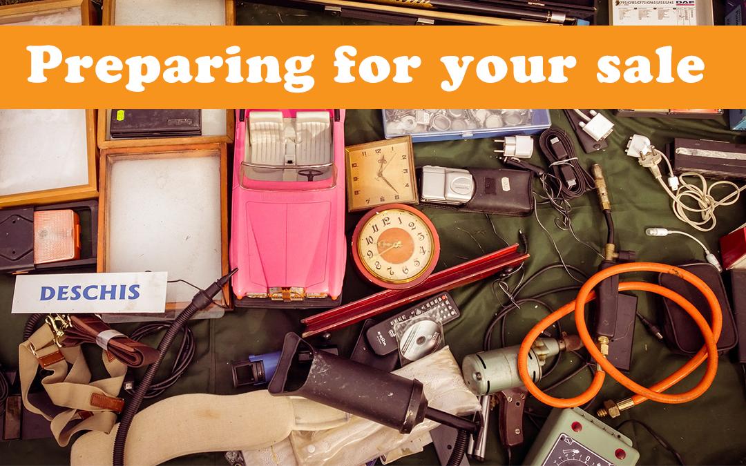 Preparing for your garage sale